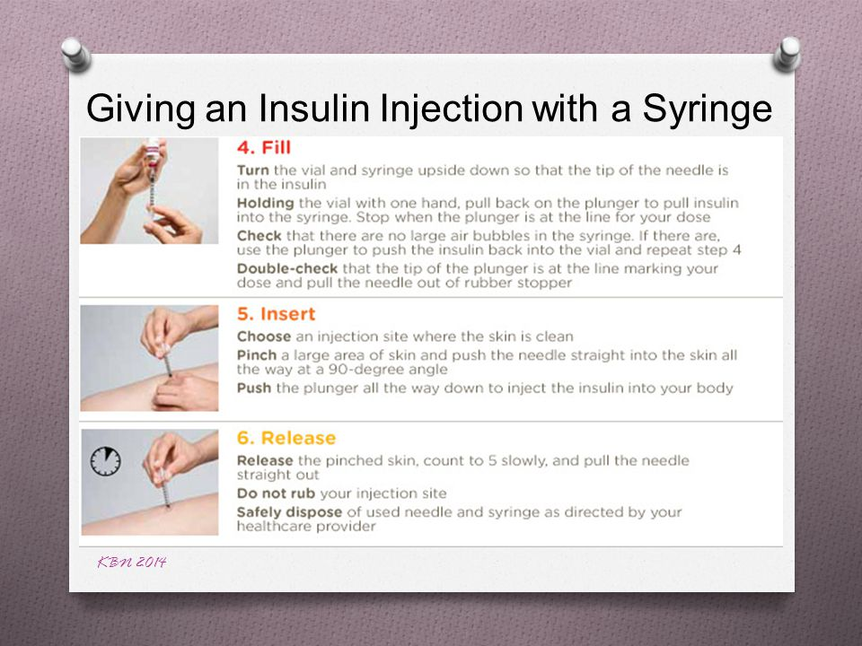 KBN 2014 Giving an Insulin Injection with a Syringe