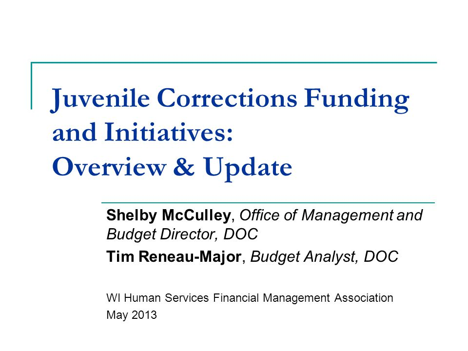 DJC Review: Consolidation Juvenile correctional institution populations fell steadily from the mid-1990s, resulting in excess capacity, higher daily rates, and increasing budget deficit ($19.5 million at FY11 year end) 2010 Governor's Commission recommended consolidation of institutions June 2011 Ethan Allen and Southern Oaks closed; Copper Lake opened