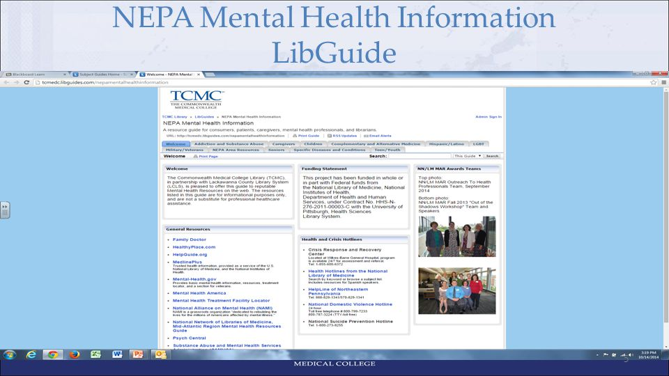 NEPA Mental Health Information LibGuide 5