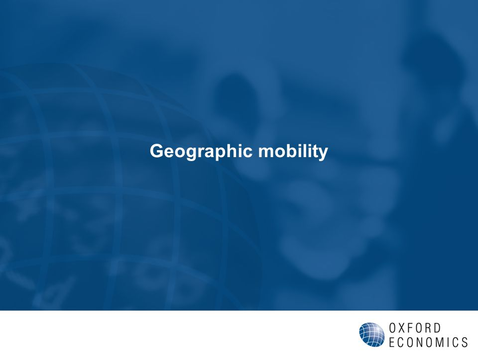 Geographic mobility