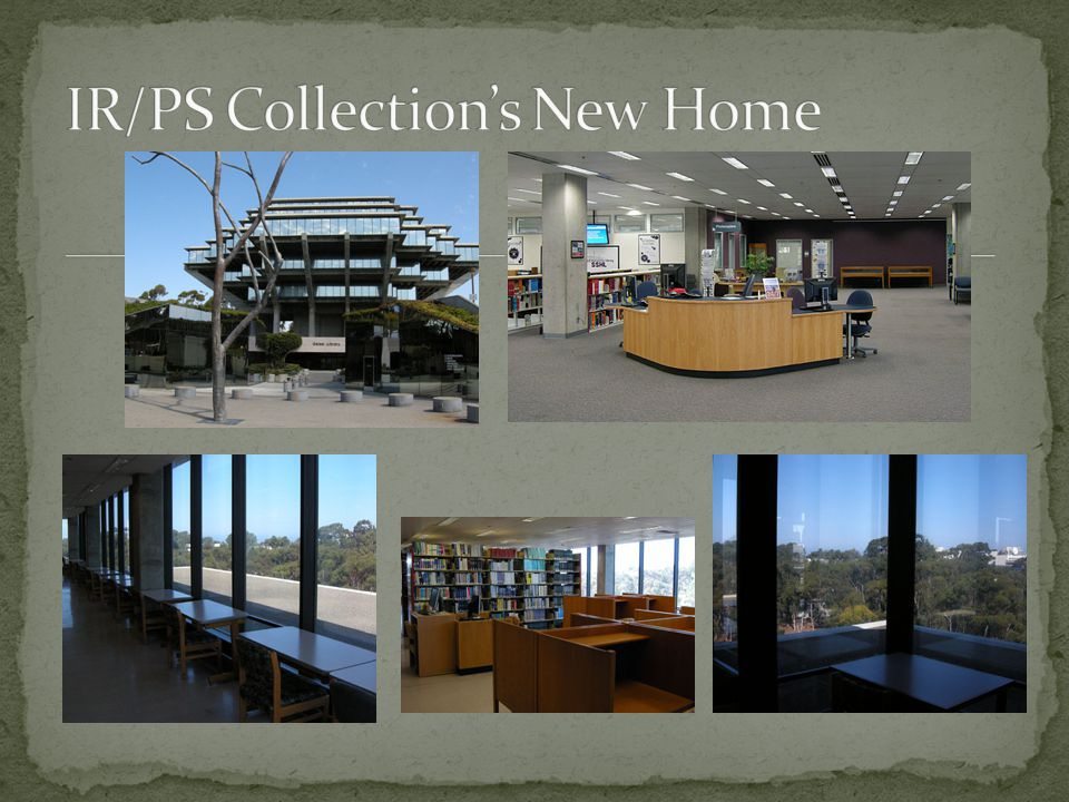 Project, February to September New Arrangements for the New Academic Year Contribution from All Library Staff IR/PS Library Closed IR/PS Collection Lives On.