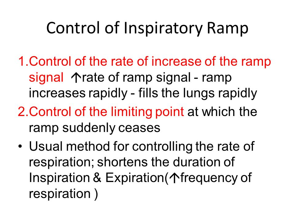 Contd… Chemoreceptor reflex is capable of overriding it.
