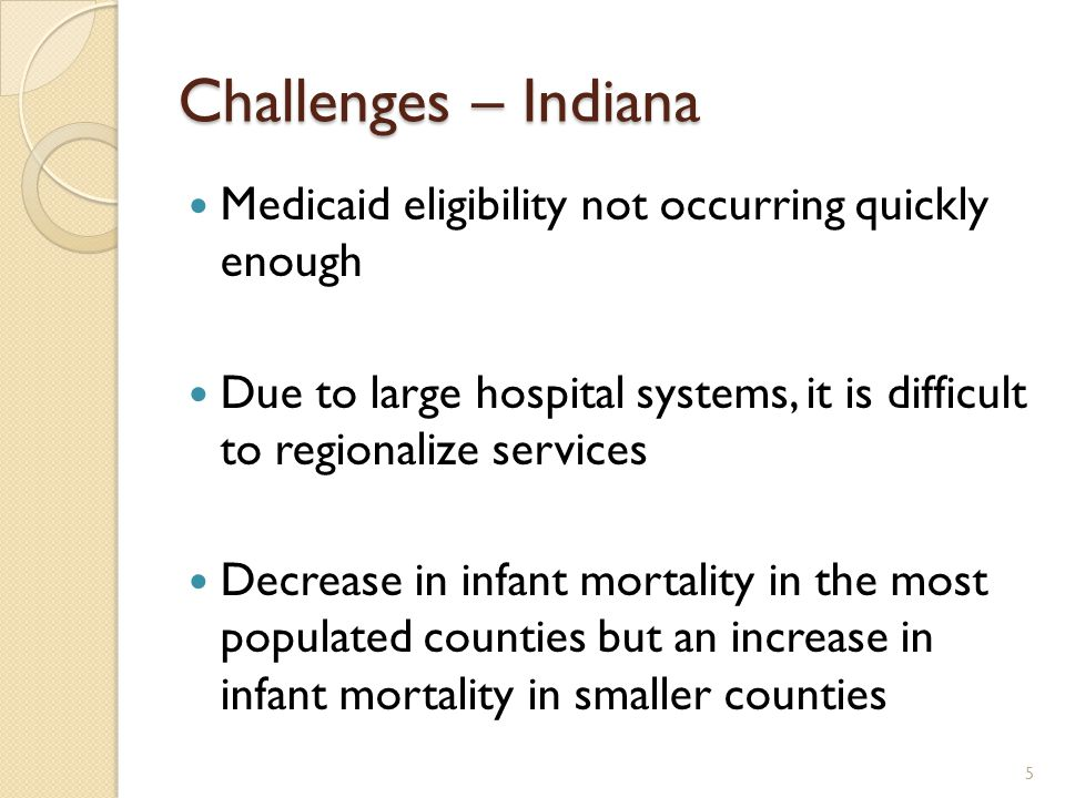 Wish List – Indiana We would like to see other states' infant mortality plan Would like to hear Lessons Learned from other states that may be further along in the process Would like to know what other states identified as low hanging fruit 6