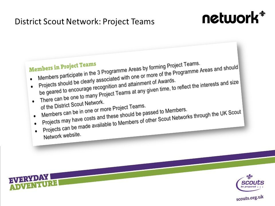 District Scout Network: Project Teams