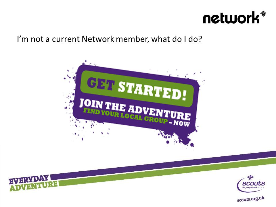 I'm not a current Network member, what do I do?