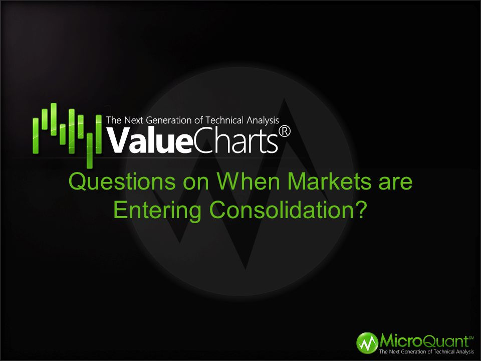 Questions on When Markets are Entering Consolidation?