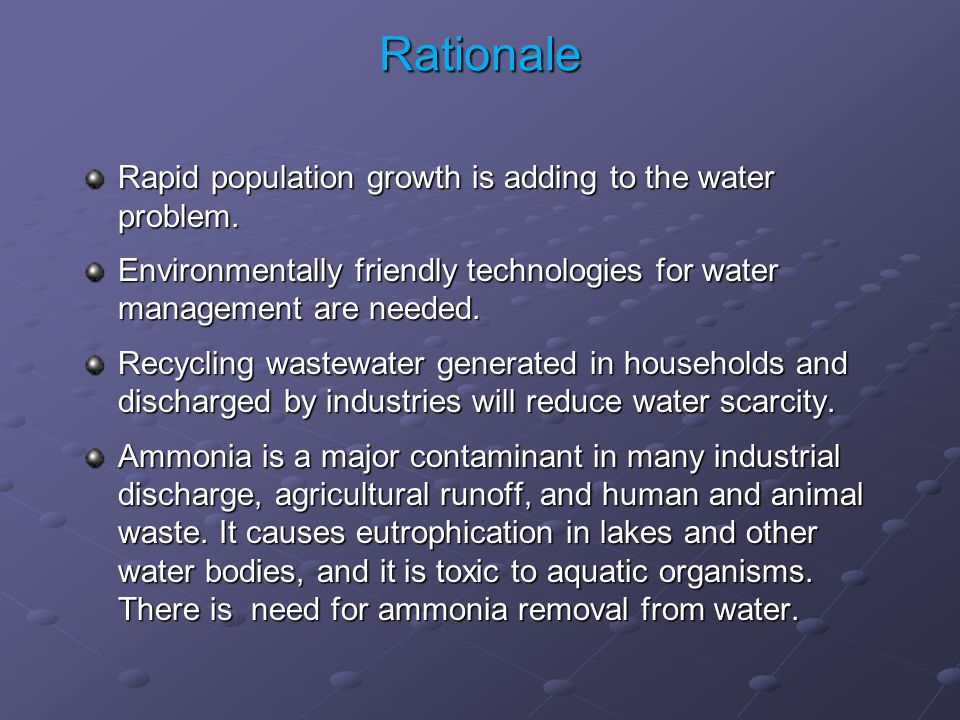 Rapid population growth is adding to the water problem.