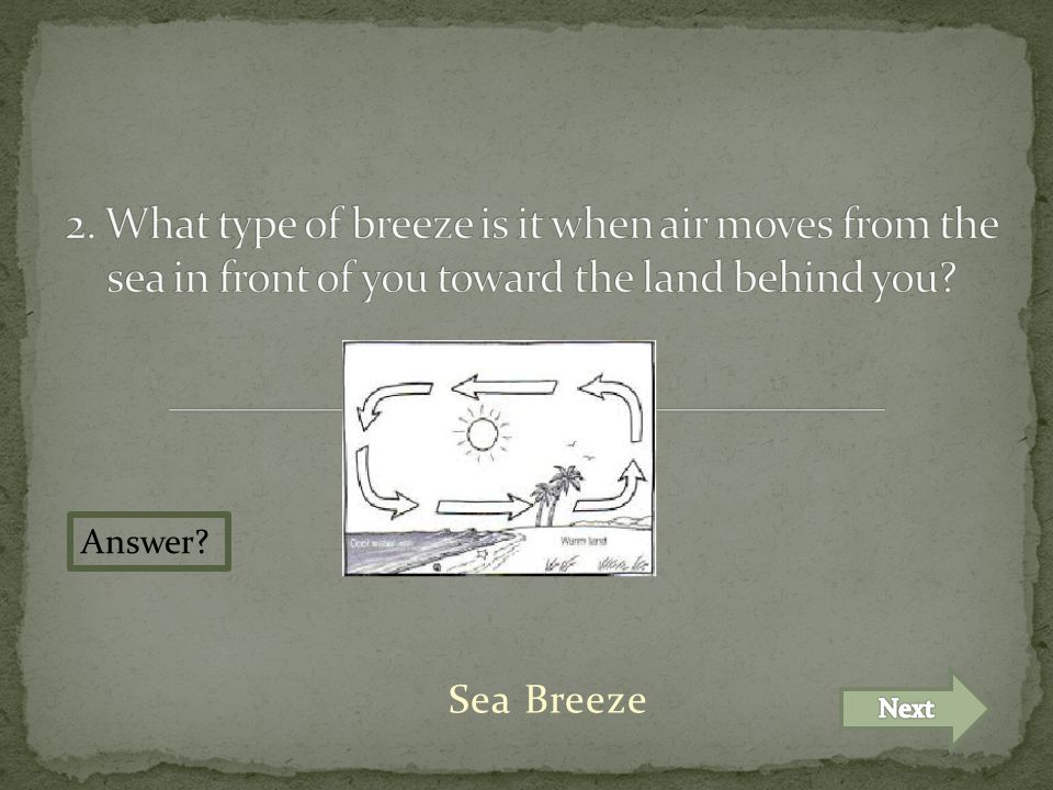 Sea Breeze Answer