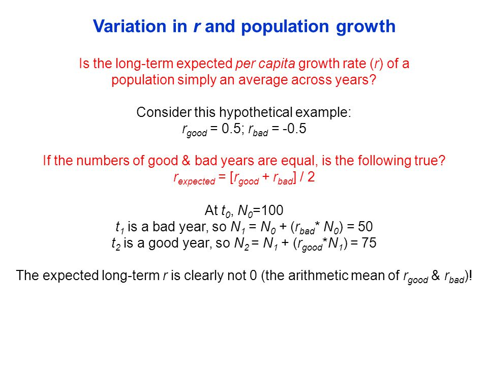 Variation in and population growth Cain, Bowman & Hacker (2014), Analyzing Data 11.1, pg.