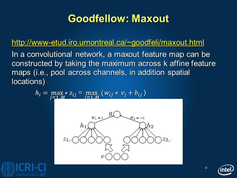 8 Goodfellow: Maxout