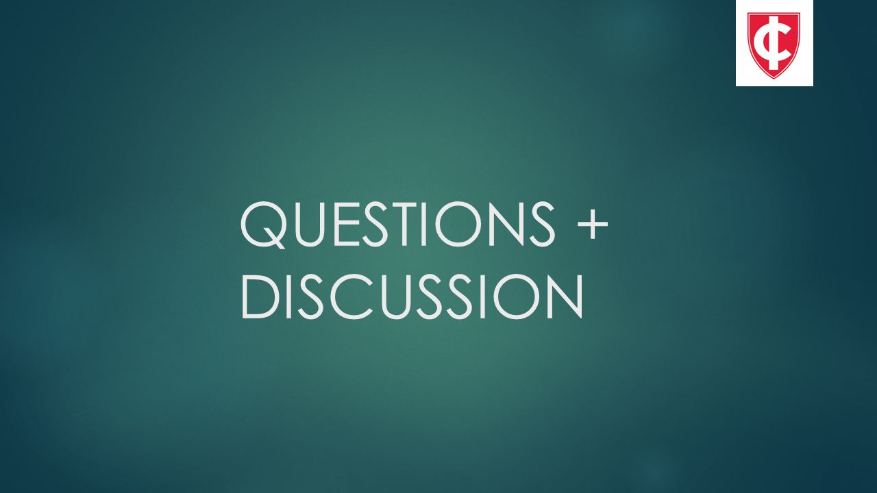 QUESTIONS + DISCUSSION