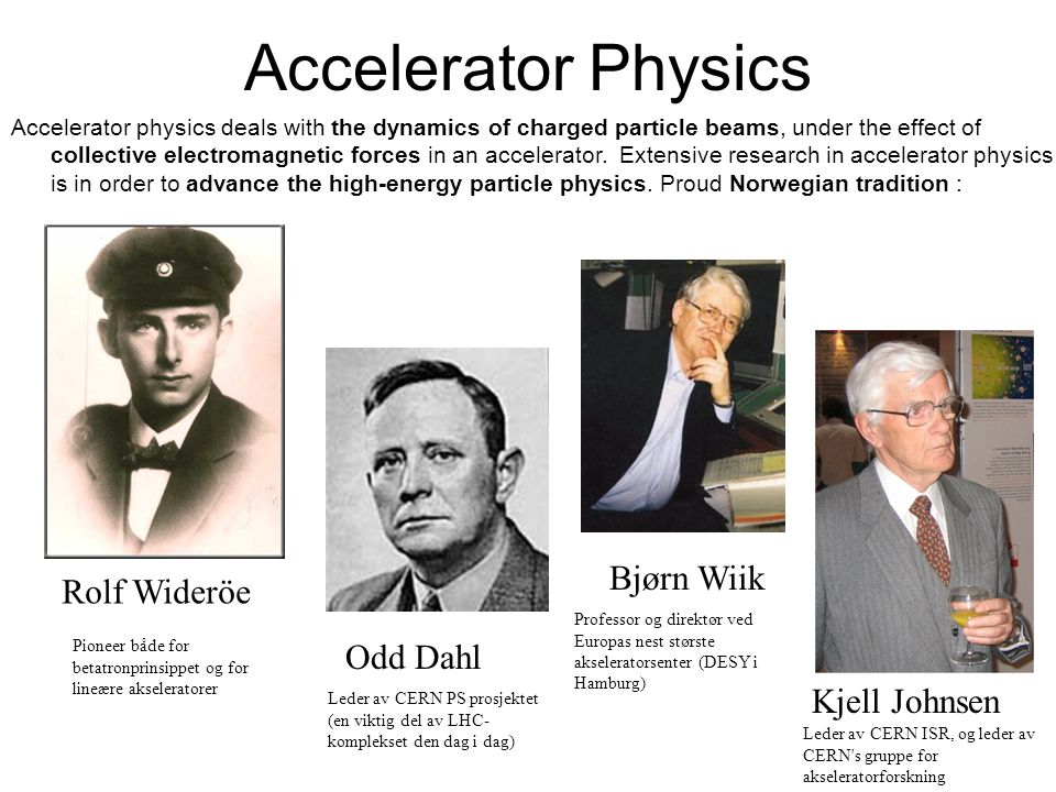 Accelerator Physics Accelerator physics deals with the dynamics of charged particle beams, under the effect of collective electromagnetic forces in an accelerator.