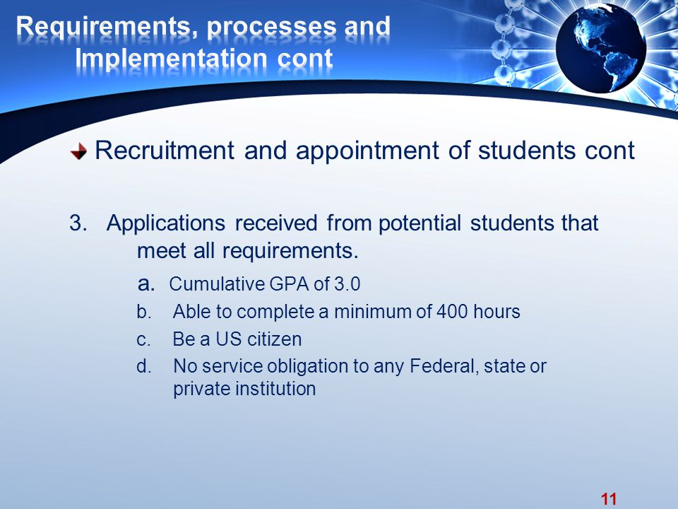 11 Recruitment and appointment of students cont 3.