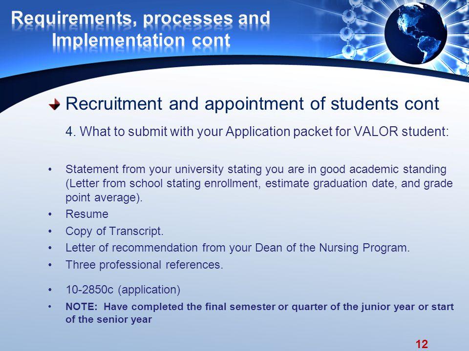 12 Recruitment and appointment of students cont 4.