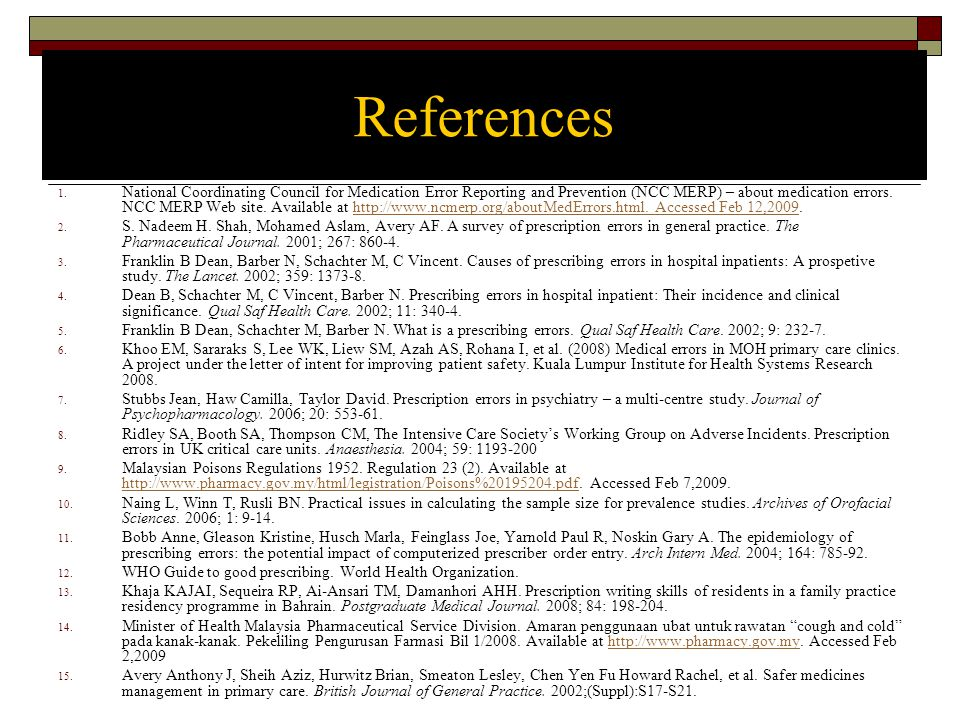 References 1.