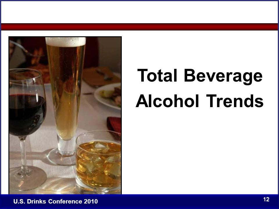 Click to edit Master title style Total Beverage Alcohol Trends U.S. Drinks Conference 2010 12