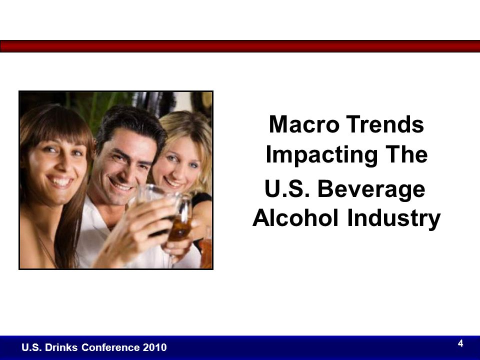 Click to edit Master title style U.S. Drinks Conference 2010 Macro Trends Impacting The U.S.