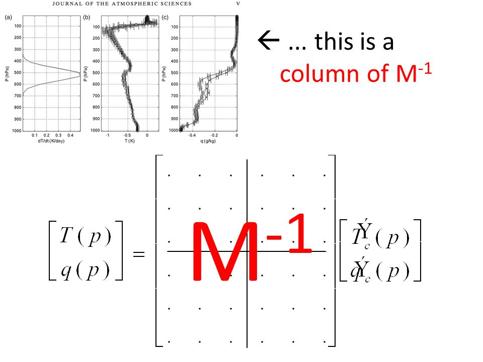 ... this is a column of M -1 M -1
