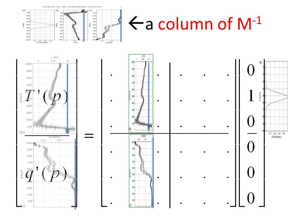 a column of M -1