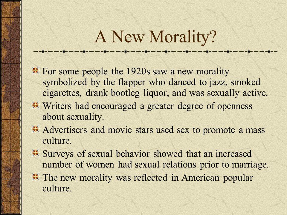 A New Morality.