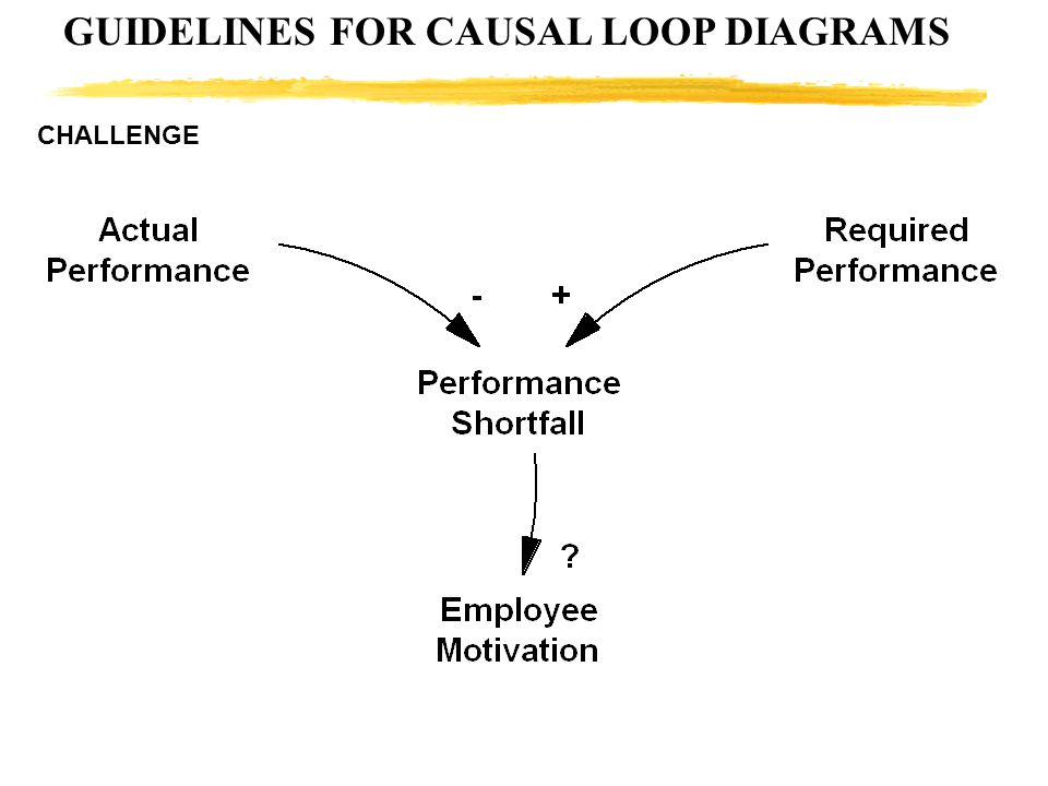 GUIDELINES FOR CAUSAL LOOP DIAGRAMS CHALLENGE