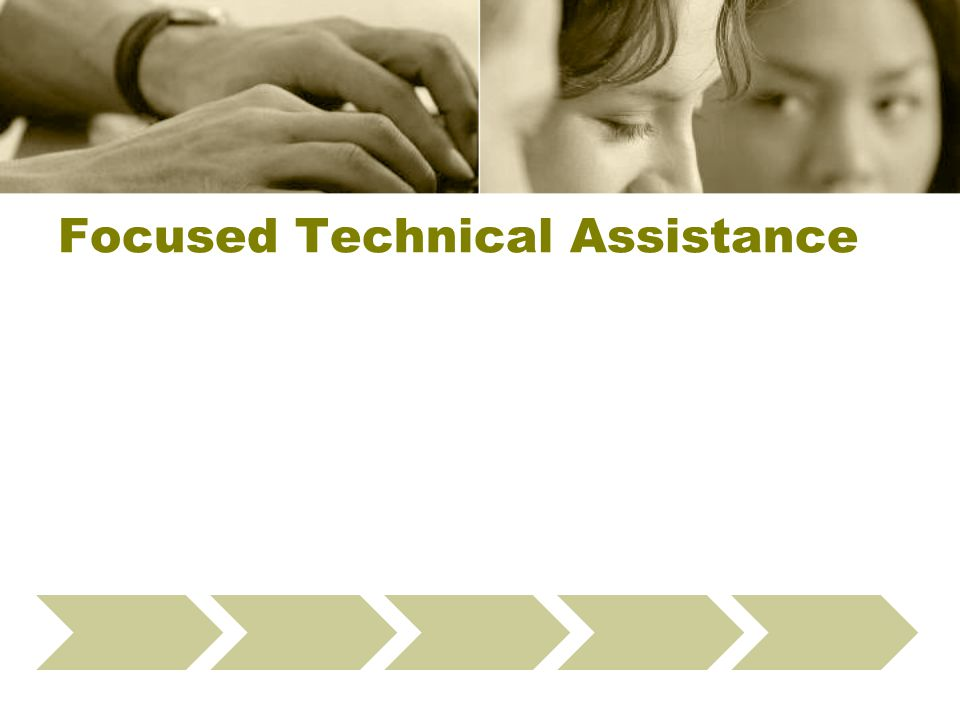 Focused Technical Assistance Define Data Checks Select Providers Present Webinar Run Fix-It Reports