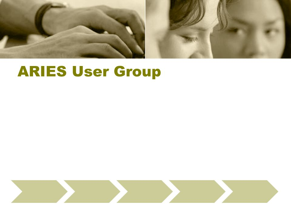 ARIES User Group Define Data Checks Select Providers Present Webinar Run Fix-It Reports