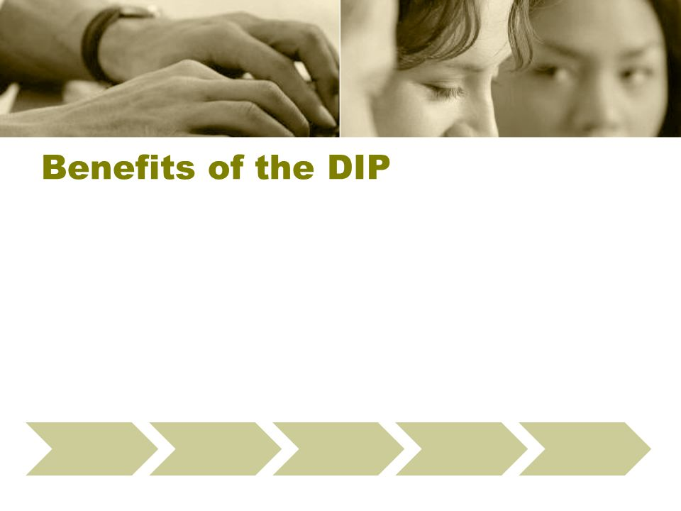 Benefits of the DIP Define Data Checks Select Providers Present Webinar Run Fix-It Reports