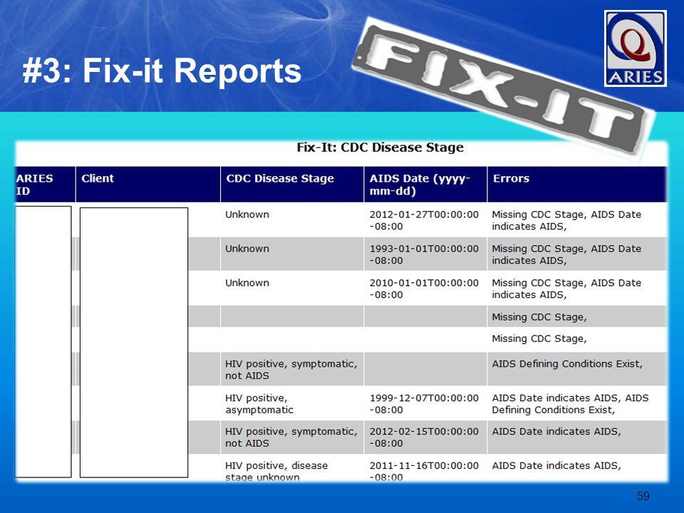 59 #3: Fix-it Reports