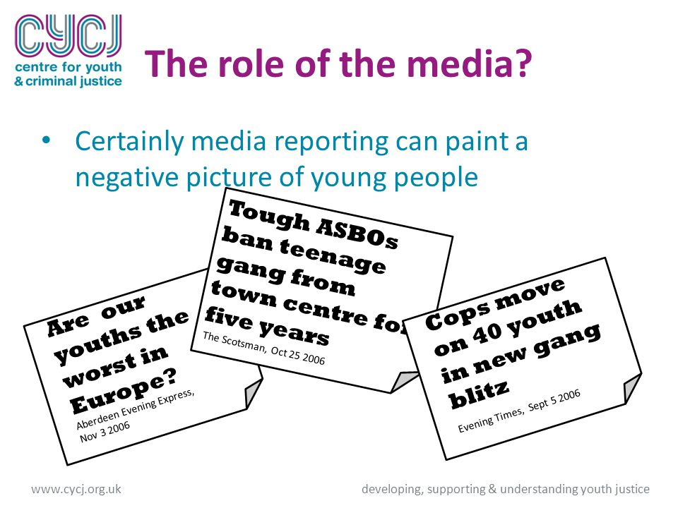 The role of the media.
