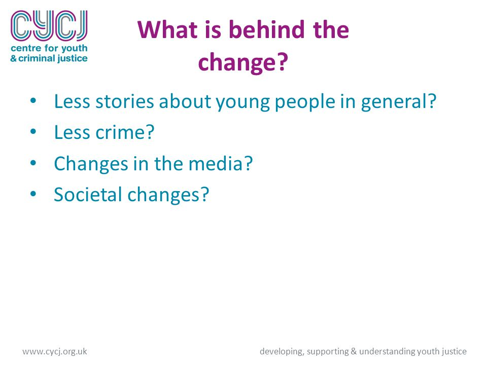 What is behind the change.Less stories about young people in general.