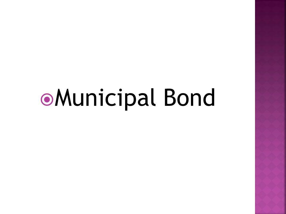  Municipal Bond