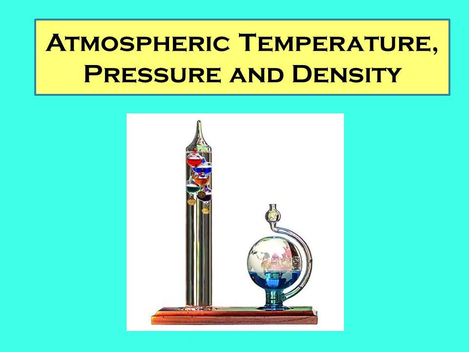 Atmospheric Temperature, Pressure and Density