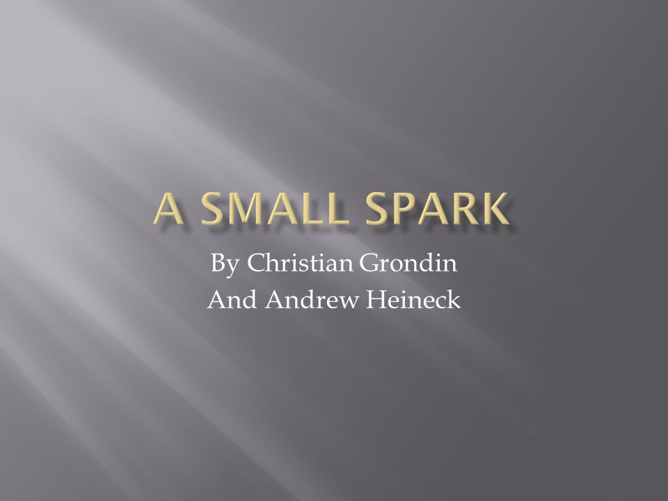 By Christian Grondin And Andrew Heineck