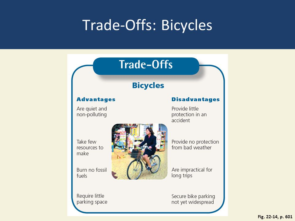 Trade-Offs: Bicycles Fig. 22-14, p. 601