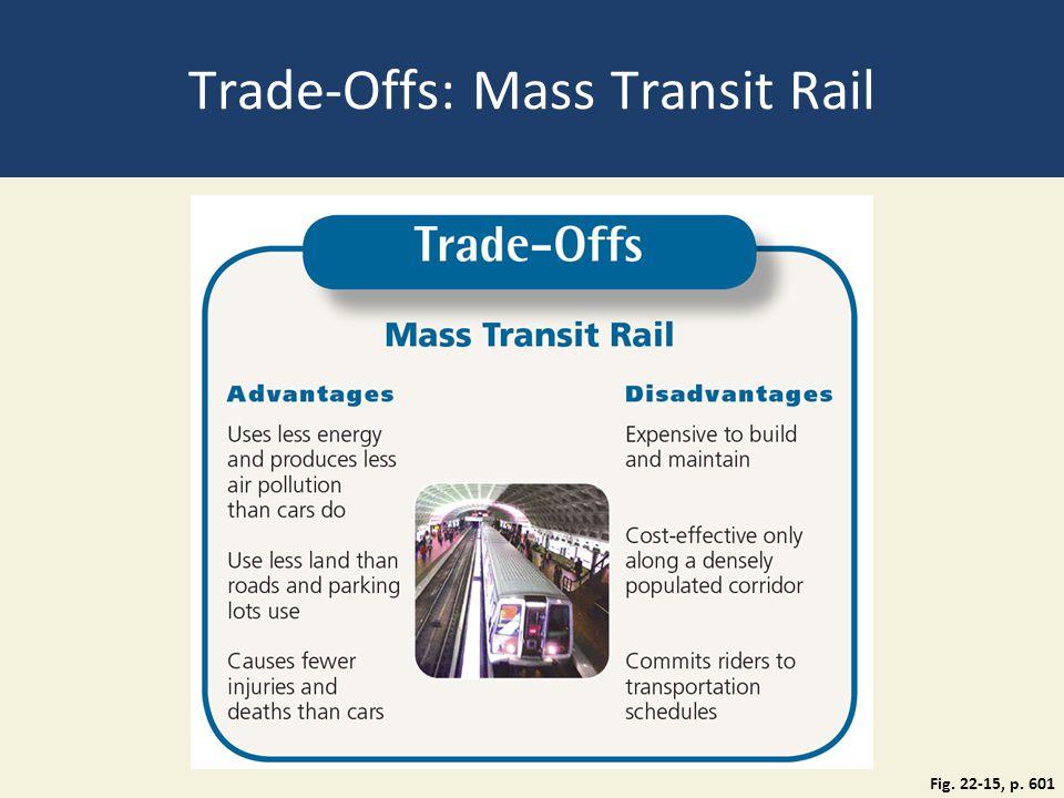Trade-Offs: Mass Transit Rail Fig. 22-15, p. 601