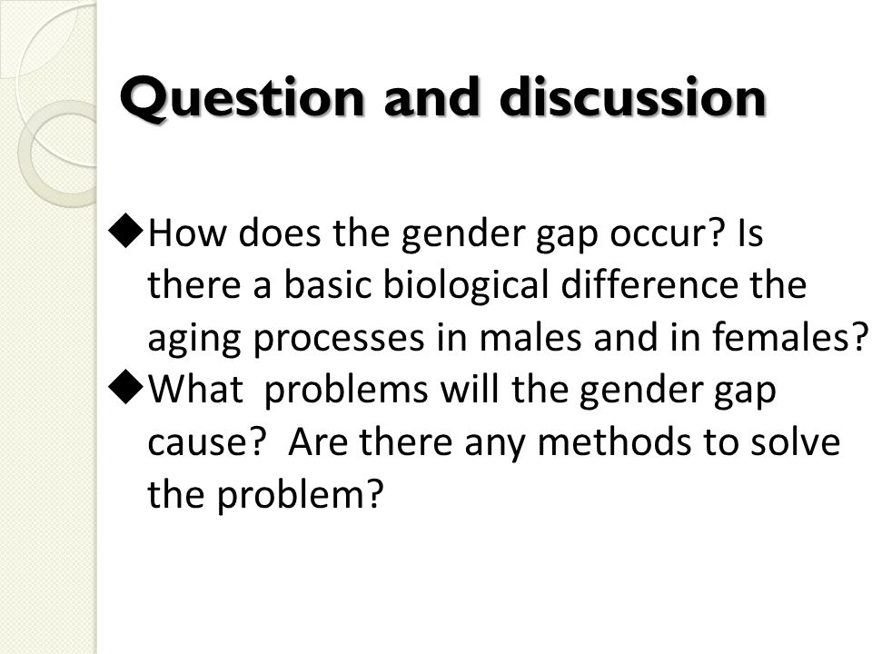  How does the gender gap occur.