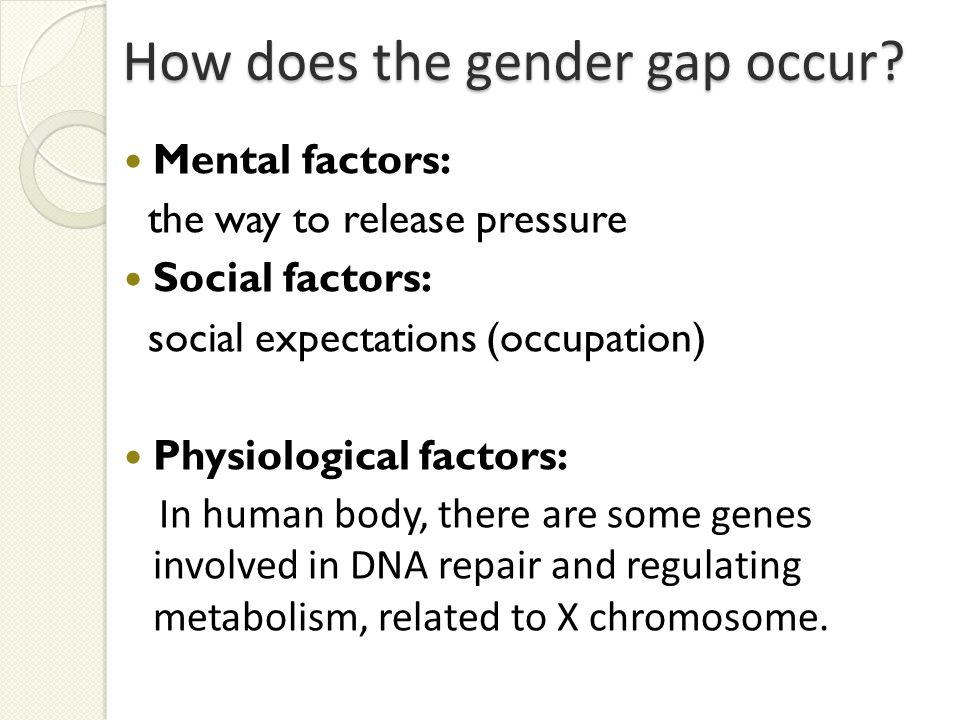 How does the gender gap occur.