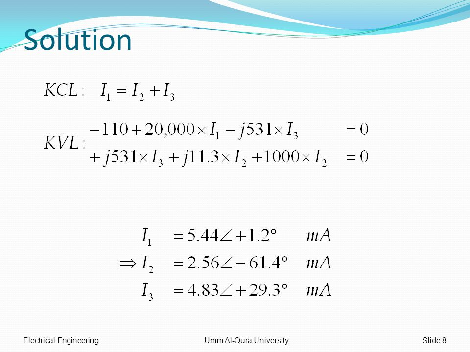 Solution Electrical EngineeringUmm Al-Qura UniversitySlide 8