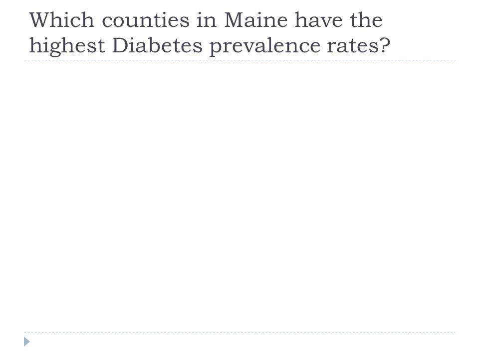 Which counties in Maine have the highest Diabetes prevalence rates?
