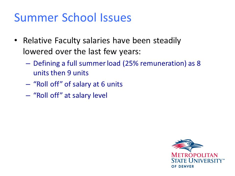 Expenses for Summer Session Total Faculty Compensation equals Salary and Benefits; benefits are 22% of salary for fulltime faculty and 14.5% of salary for affiliate faculty Academic Department support staff @ 2/12 of annual compensation Academic Department instructional materials @1/12 of budgeted annual costs Institutional student scholarship obligations Library support @ 2/12 of annual costs AHEC Given that Summer CHP =.0809% of total % of AHEC Contribution attributed to Instruction = 52.2% Overall contribution to ACHEC = $9,774,401 Calculation = $9,774,401*.0809%*52.2% = $412,817 This represents 4.2% of total annual AHEC contribution
