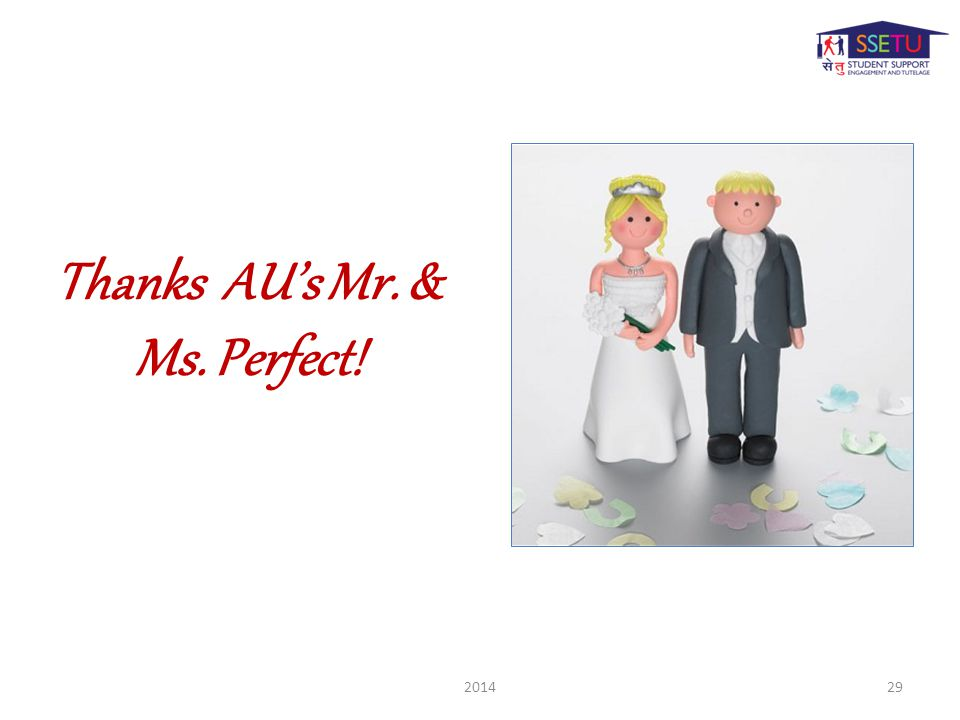 Thanks AU's Mr. & Ms. Perfect! 201429