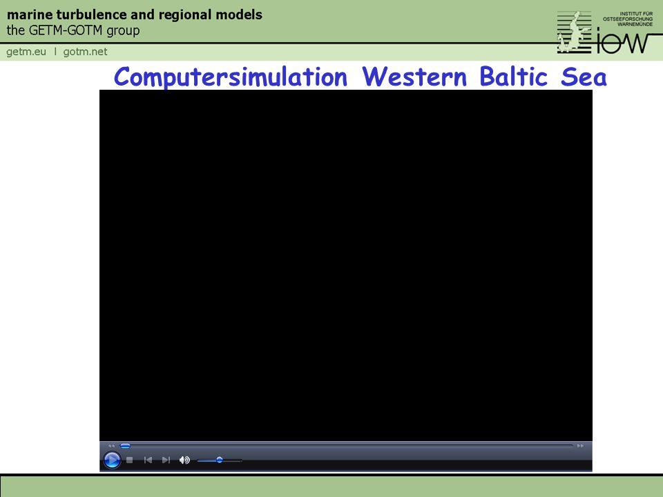 Computersimulation Western Baltic Sea