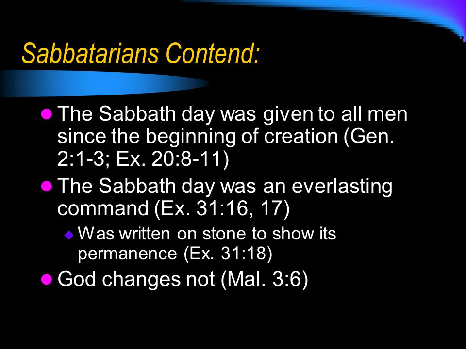 Remember Who was told to remember the Sabbath in Exodus 20.