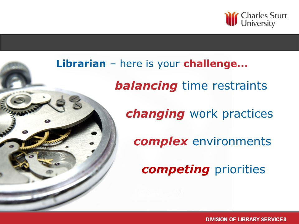 DIVISION OF LIBRARY SERVICES and let's do it online let's flip the classroom...