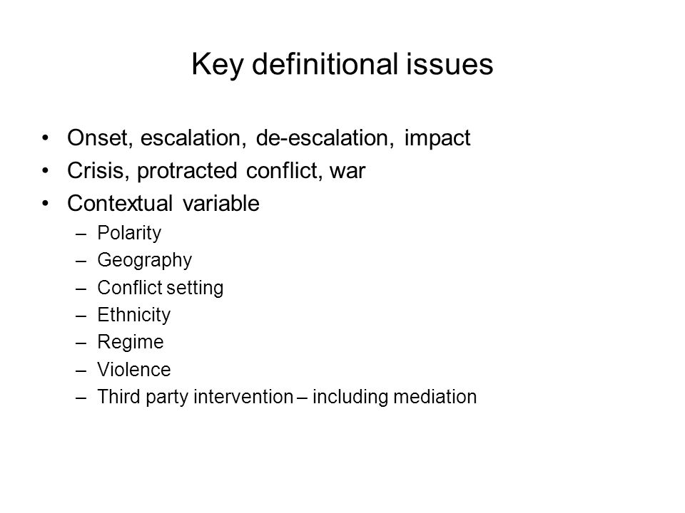 Under what conditions are crises likely to be mediated.