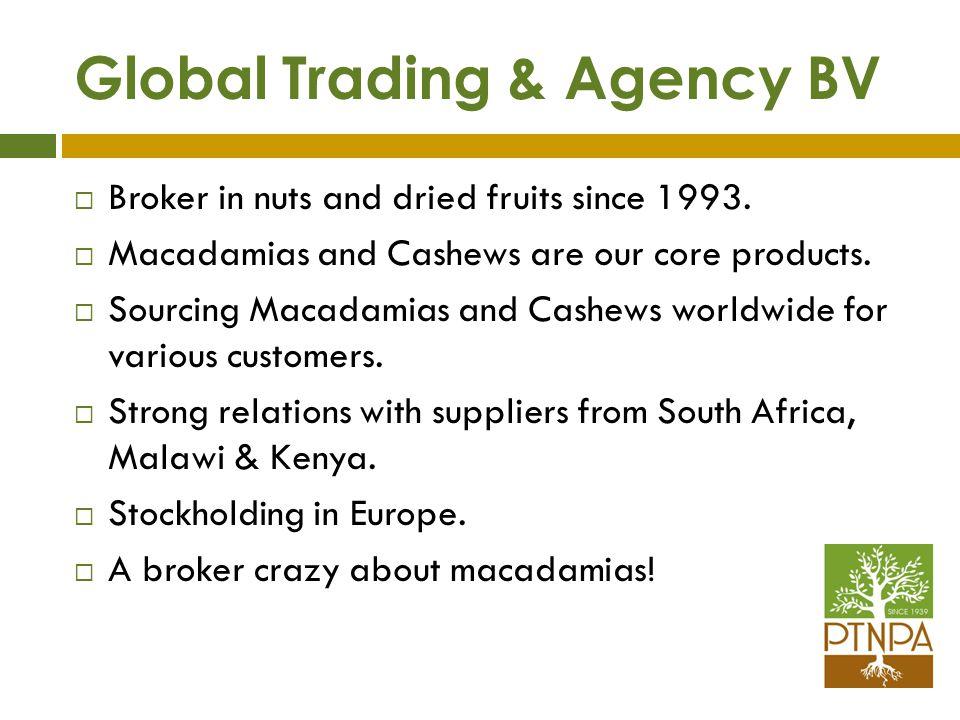 Macadamias – A global crop Australia, South Africa, Hawaii, Kenya, Guatemala, Malawi, Brazil, China and many others.