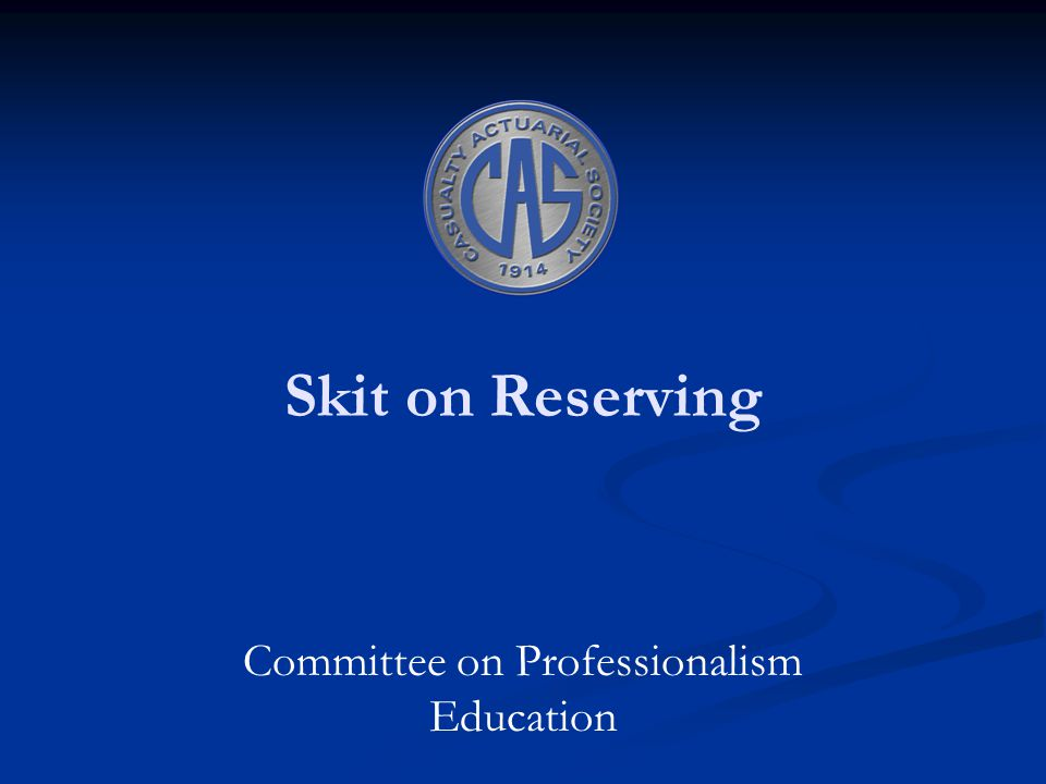 Skit on Reserving Committee on Professionalism Education