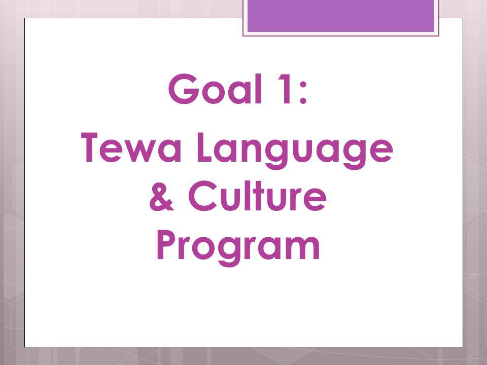 Goal 1: Tewa Language & Culture Program