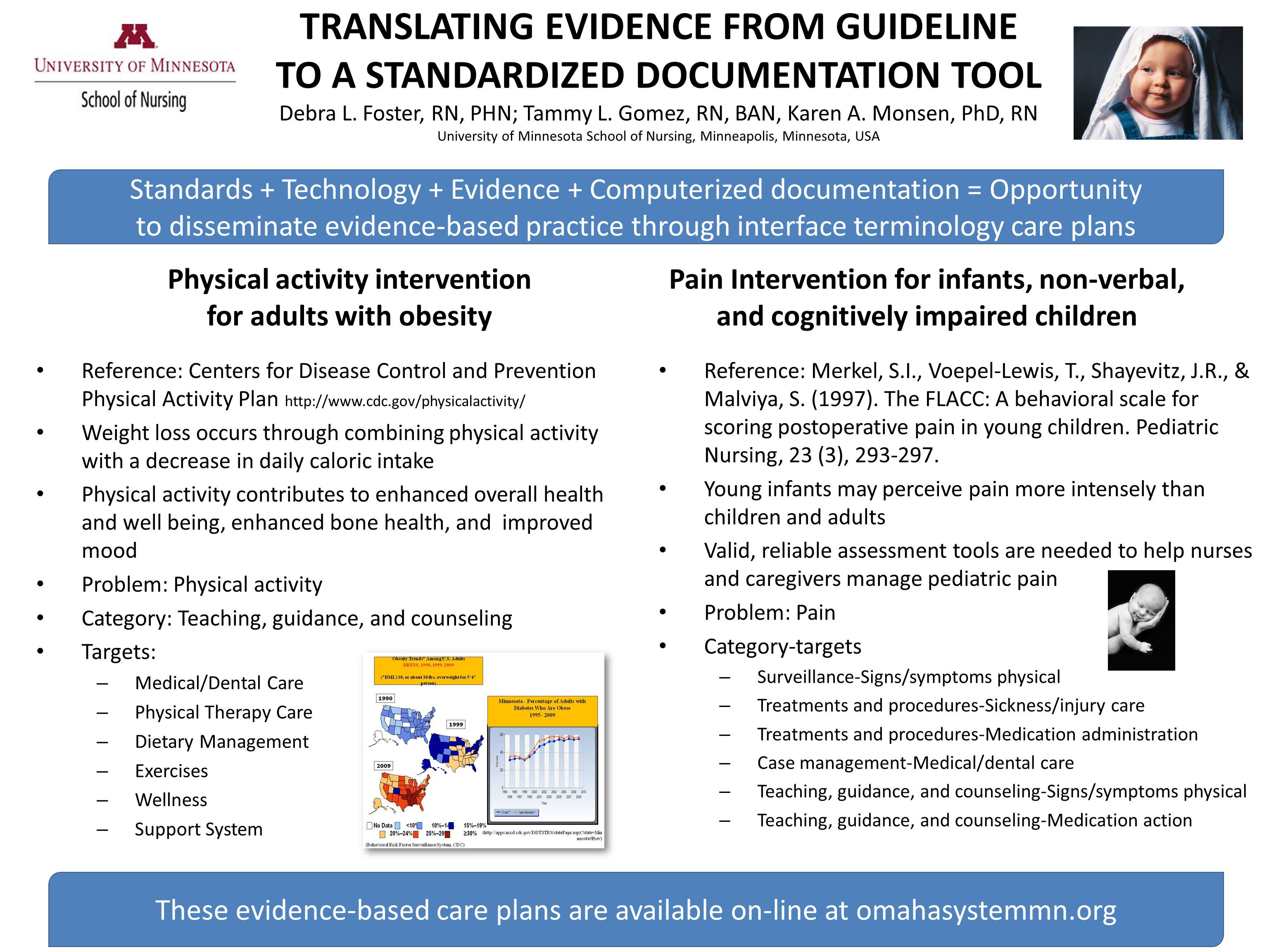 TRANSLATING EVIDENCE FROM GUIDELINE TO A STANDARDIZED DOCUMENTATION TOOL Debra L.